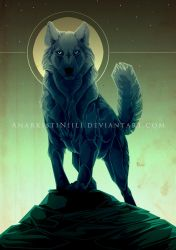 Old Art - Black Wolf by AnarkistiNiili