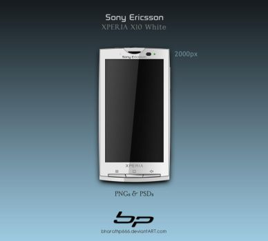 Sony Ericsson Xperia X10 White by bharathp666