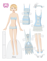 Fashion Paper Doll Lana - A Flapper Paper Doll! by juliematthews