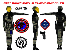 Next Genration  G flight suit FA-70  Tiger Stripe by bagera3005