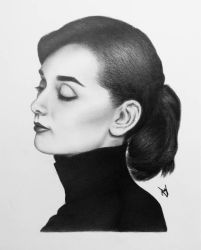 Audrey Hepburn Drawing by AndyVRenditions
