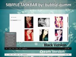 new simple taskbar by bubble-qumm