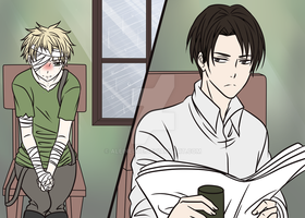 Little Navin and Rivaille by AleineRoe