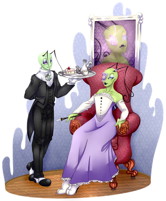.:AT:. - A Baroness and her butler by MusicalBloodDrop