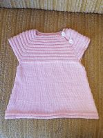 Baby pink bamboo dress for littlesister by KnitLizzy