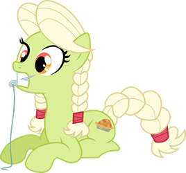 Young Granny Smith tries to sew by CloudyGlow
