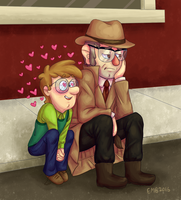 Tiny Fidds And Incognito Ford by AcidicGumdrops