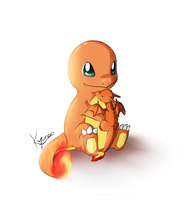 Charmander with Charizard plushi by RedKyuren