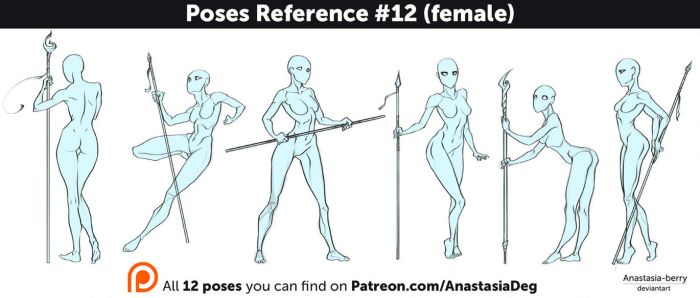 Poses Reference #12 (female) by Anastasia-berry