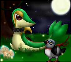 Pokemon: Snivy and Pidove