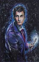 Doctor Who - David Tennant (colored pencil) by ClintHagler