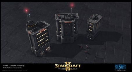 Starcraft II LotV -  Korhal Buildings by thiagoklafke