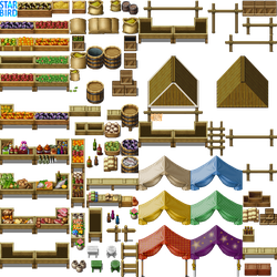 Outdoor Market Tileset - RMMV by StarbirdResources