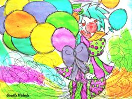 Colorful  Little Clown by yukidogzombie