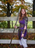 women leather armor LARP accessories by Lagueuse