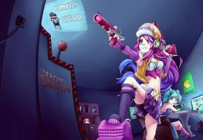 Miss Fortune VS League of Draven by Huksly