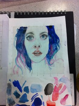 First watercolour portrait by Katy80823