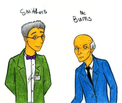 Burns and Smithers by harrimaniac27
