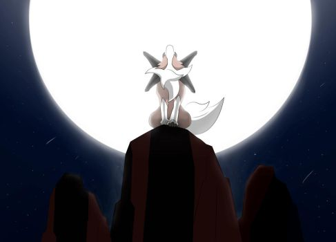 Lycanroc - Cry to the Moon by JohnKurosu