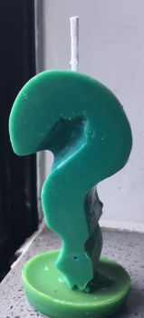 Soos Question Mark Candle by Sorehoof