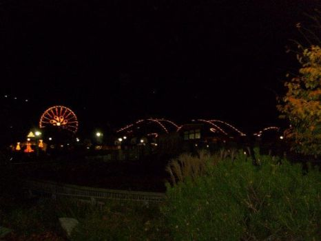 Hersheypark - Lightning Racer (At Night) by AprilElyse