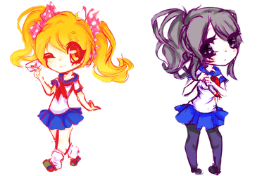 [Fan Art]Chibi Yandere Simulator by Xoiu