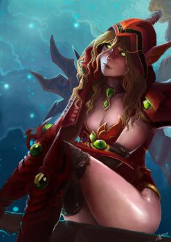 Valeera Sanguinar by AdrianWolve by AdrianWolve
