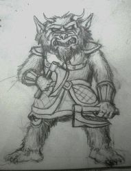 Monster doodle: Bugbear by ElliugOmrot