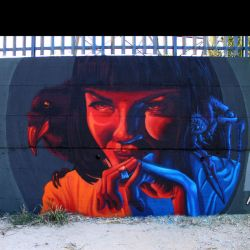 Mia Wallace by napolimurales
