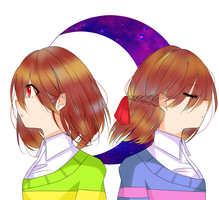 Frisk and Chara by MeiAki