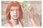 Leeloo Fifth Element Watercolor... by ssava