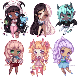 C: Teeny Tiny Chibi Batch 06 by KirasElixir