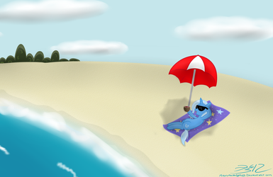 Trixie's Day at the Beach by MikorutheHedgehog