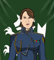 1st Lieutenant Athena Heinkel Profile Card by docwinter