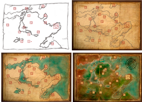 Map for my rpg game by missVarlou