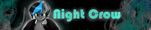 [ Charity COMM.] Night Crow Youtube Banner by MimicProductions