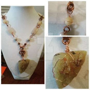 Fancy yellow opal rough necklace by MurcMarischal