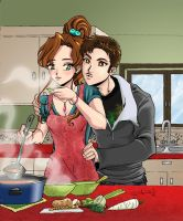 Leta Cooking by roryalice