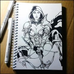 Sketchbook - Demon Huntress (NSFW on Patreon) by Candra