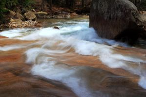 Rapids against the Rock by Celem