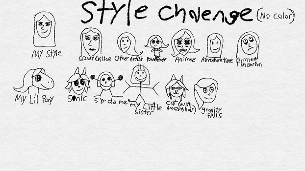 Style challenge (no color) by PinkNinjaKitty1