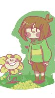 Flowey and Chara -Undertale  by justarandomfruit