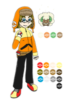 Trainer Nessie Full Figure and Color Palette by ignessie