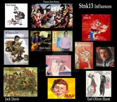 My Influences by Stnk13