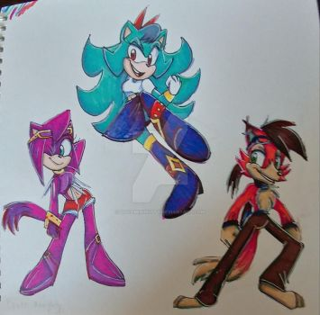 My sonic redesigns 1 by Cocomintkitty