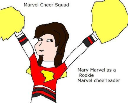 Marvel Cheer Squad - Rookie Mary Marvel by Dinzydragon