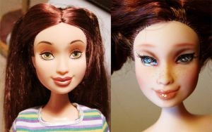 barbie p-bo flavas repaint by hellohappycrafts