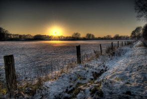 Snow sunset HDR2 by Rellim