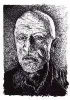 No Half Measures - Mike Breaking Bad in Ink by LorraineKelly