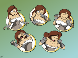 Commission: Sneezy Facial Expressions by Ari-Dynamic